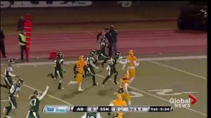 Saskatchewan Huskies down Alberta Golden Bears 48-9