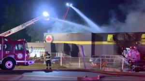 Fire breaks out at auto dealership in Langley
