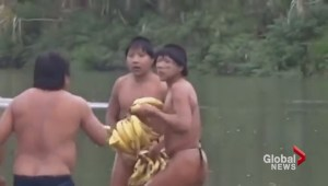 Amazon tribe emerges, seen on video