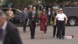 Prince William, Sophie Trudeau greet first responders outside Kitsilano Coast Guard Station