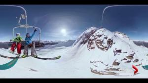 Virtual reality promotions for local ski hills