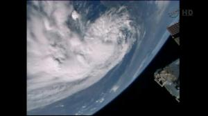 Cameras aboard ISS capture images of Tropical Storm Arthur from space
