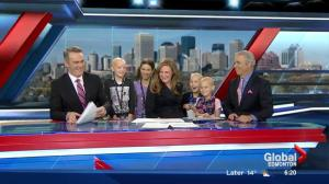 Special guests from Kids with Cancer Society become news reporters