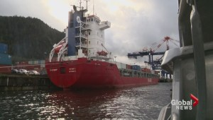 Crippled Russian ship under repairs