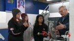 Young women show interest in plumbing class