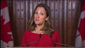 Chrystia Freeland outlines Canada's goals in NAFTA renegotiations