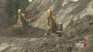 Costly repair work begins at Okanagan landslide site