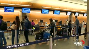 WestJet checked bag fees