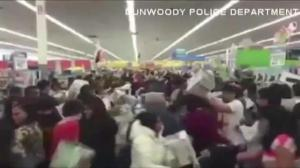 Police release video showing shopping frenzy at Georgia WalMart on Black Friday