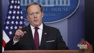 Sean Spicer responds to inquiries on blocking certain news outlets from media briefing