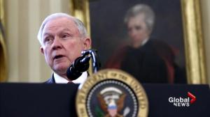 New U.S. Attorney General Jeff Sessions recuses himself from election investigation