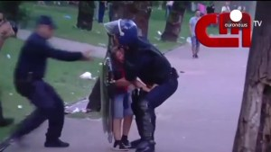 Police in Potrugal beat man with clubs in front of crying son