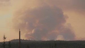 Fire rages near 100 Mile House