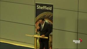 Crowd cheers as Sheffield votes to leave European Union in 2016 referendum vote