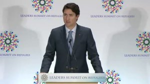 Full speech: PM Justin Trudeau discusses Canada's role on resettling refugees