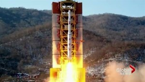 North Korea under suspicion of firing banned weapon
