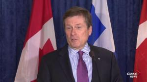 "Tory ""trying to make Toronto's case"" in visit to Ottawa"