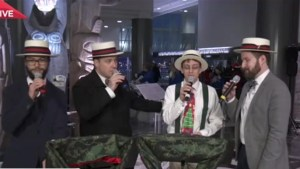 The Squares Barbershop Quartet join Christmas Wish Breakfast fun