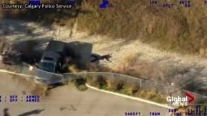 Calgary police release wild footage of stolen vehicles from HAWCS helicopter