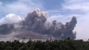 Mount Sinabung continues to spew searing gas and ash