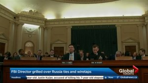 FBI director James Comey testifies on Russia electoral meddling, wiretap allegations