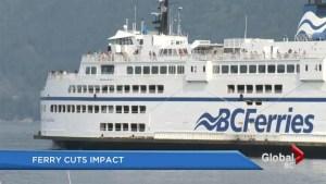 Impact of BC Ferries cuts