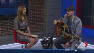Country artist Jason Benoit performs