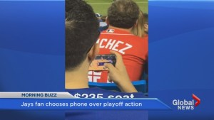 Jays fan choses screen time over playoff action