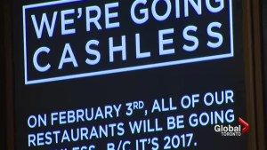 Restaurants increasingly going cashless