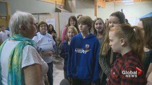 Okanagan students walk day in shoes of children who can't go to school