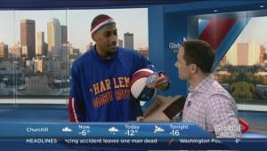 Globetrotter Zeus McClurkin shows off his moves on Winnipeg's Morning News