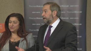 Mulcair and Mourani discuss her NDP role going forward