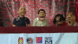 Puppets portray President Duterte's war on drugs in Philippine schools