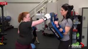 Kickboxing for the cats at Bridge City Fitness