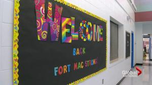 Fort McMurray students return to school for the first time since wildfire evacuation