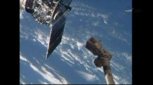 Cygnus supply ship docks with ISS