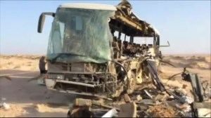 Bus crash kills at least 33 near Egyptian resort