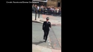Funky cop gets 'Footloose' at Manchester Pride Parade