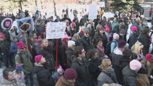 Thousands of Calgarians gather in solidarity with Women's March on Washington