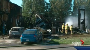 Lacombe fire rips through 3 homes