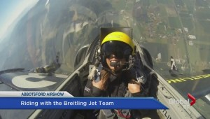 Sophie Lui goes flying with the Breitling Jet Team