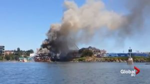 Fire crews tackle fire at Victoria's Gorge waterway