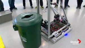 Chinook High school students build recycling robot