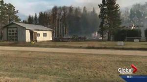 Grass fires break out across central Alberta