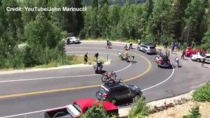Horrifying accident sets off chain reaction at Utah bike race