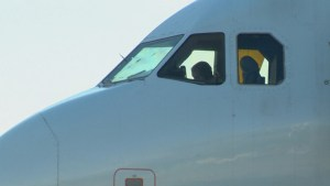 Air Canada flight due in Calgary lands in Lethbridge after windshield cracks in hail storm