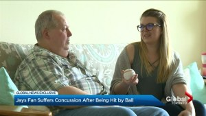 Baseball fan suffers concussion after being hit by ball at Toronto's Rogers Centre