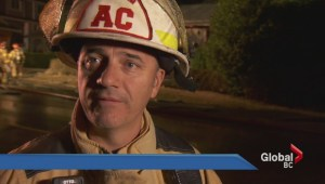 Coquitlam man barely escapes house fire