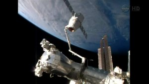 Dragon cargo ship detaches from space station ready for return to Earth