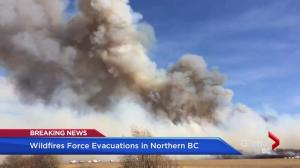 Wildfires force evacuations in northern B.C.